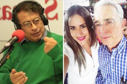 Gustavo Petro, Alejandra Cifuentes y Álvaro Uribe