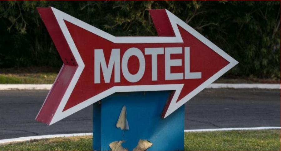Letrero de un motel
