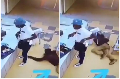 Hombre robando a ladrón.