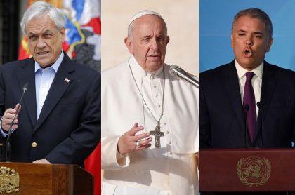 Piñera, papa y Duque