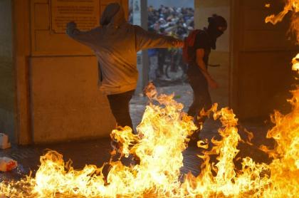 Manifestante Paro Nacional Colombia