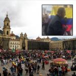 Plaza de Bolívar y manifestantes contra periodista de RCN