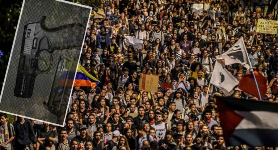 Marcha en Medellín