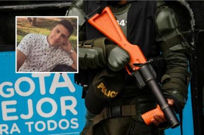 Dilan Cruz y agente del Esmad