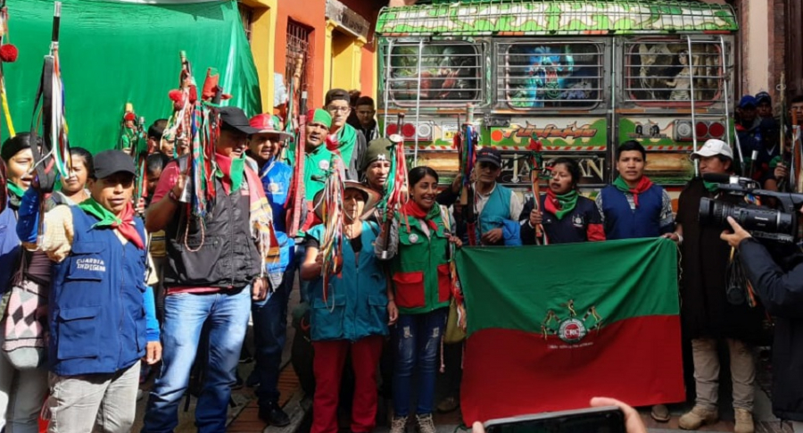 Indígenas en Bogotá