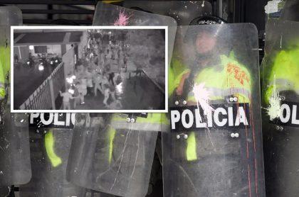 Policía atacada en Bogotá