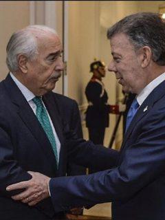 Andrés Pastrana y Juan Manuel Santos