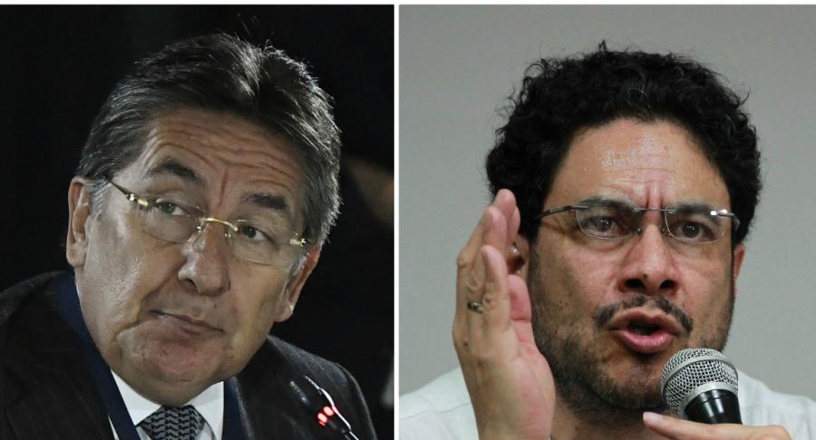 Néstor Humberto Martínez e Iván Cepeda