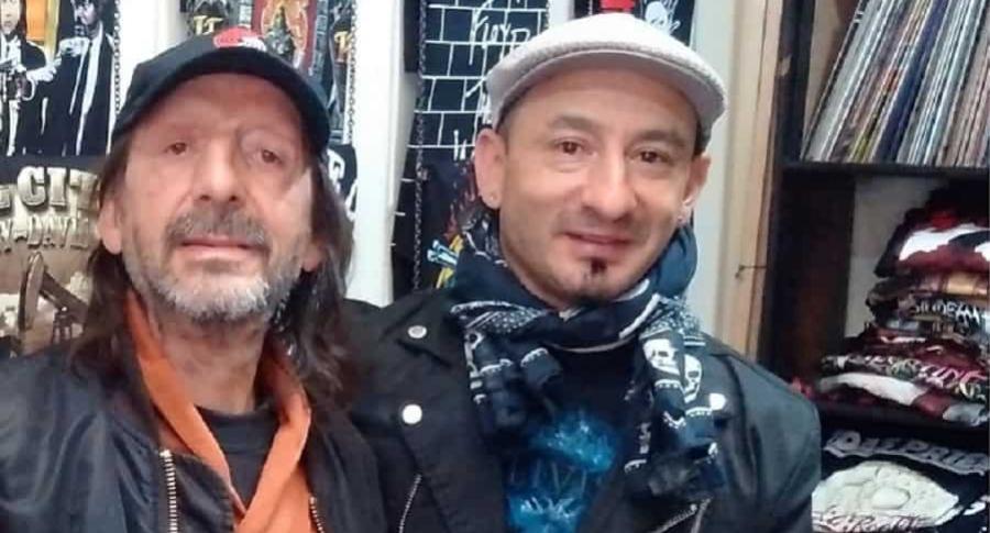 Gustavo Arenas, 'Dr. Rock', con su hijo Ali.