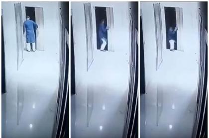 Hombre cae en hueco de ascensor.