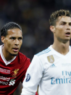 Virgil Van Dijk y Cristiano Ronaldo