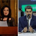 Claudia Blum y Nicolás Maduro