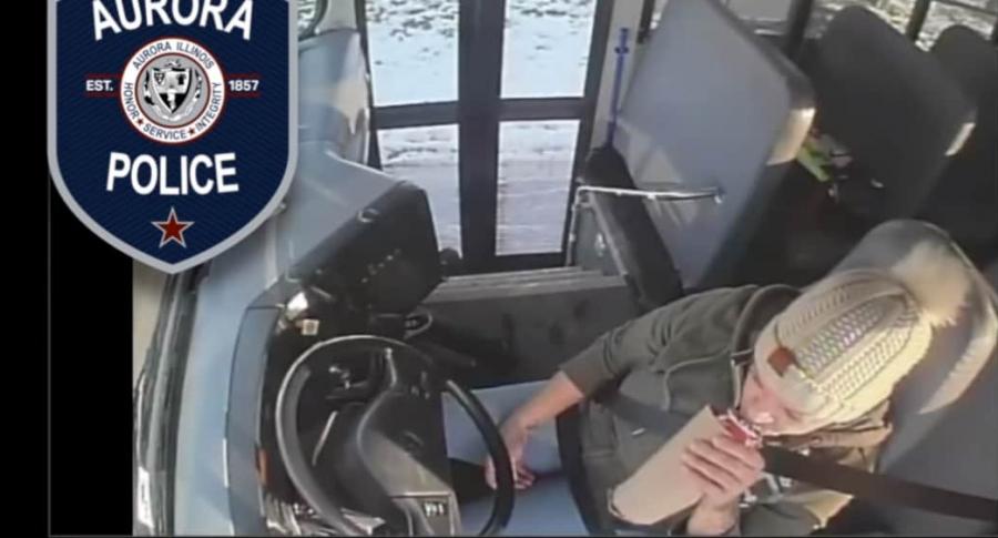 Conductora de bus escolar.