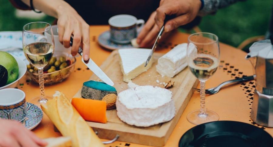 Quesos y vinos franceses