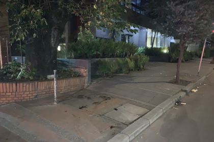 Calle 93 con 12 de Bogotá, donde sucedió el crimen