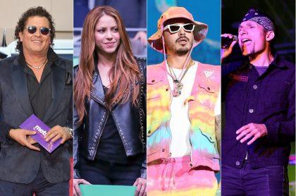 Carlos Vives, Shakira, J Balvin y Mario Muñoz, cantantes.