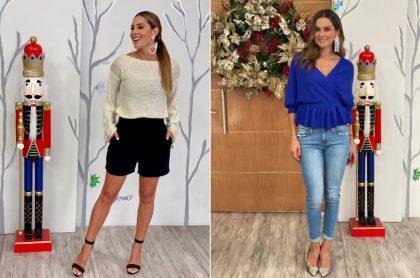 Carolina Soto y Catalina Gómez, presentadoras.