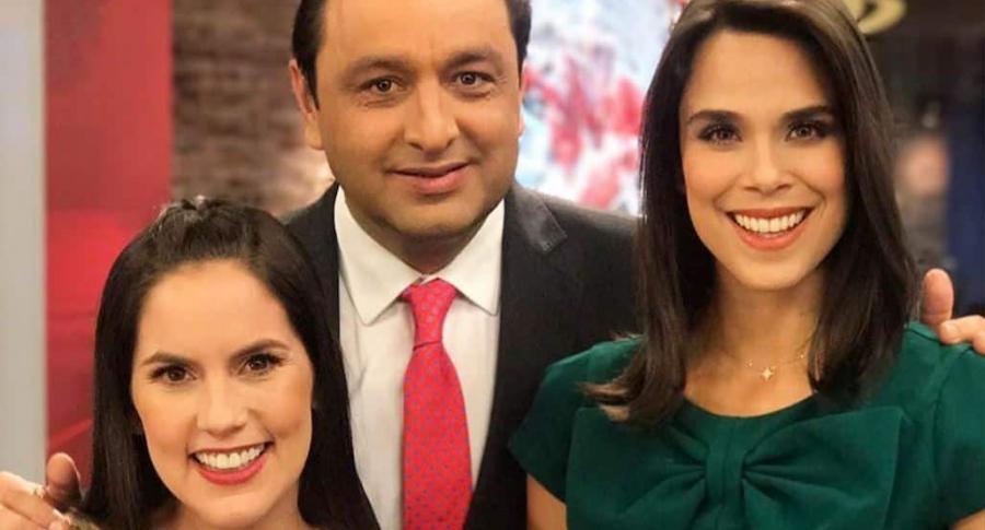 Linda Palma, Jorge Alfredo Vargas y Andreina Solórzano, presentadores.