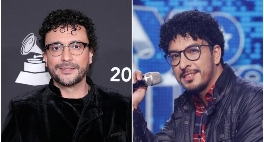 Andrés Cepeda y su imitador de 'Yo me llamo'