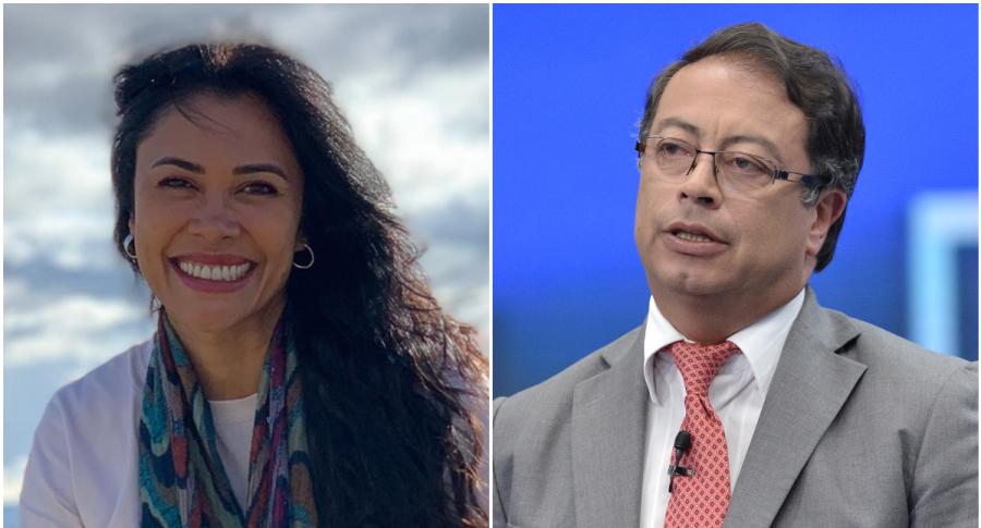 Martha Isabel Bolaños y Gustavo Petro