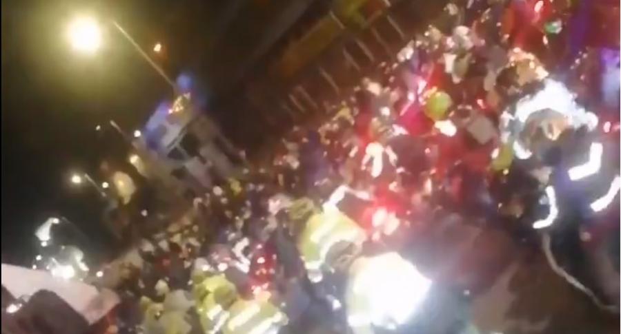 Bloqueo de ciclistas carrera 30 de Bogotá