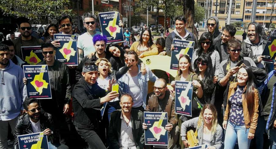 Colectivo artistas concierto Un canto x Colombia