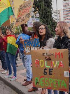 Manifestación contra Evo Morales en La Paz, Bolivia