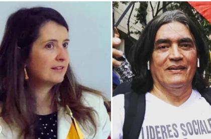 Paloma Valencia y Gustavo Bolívar