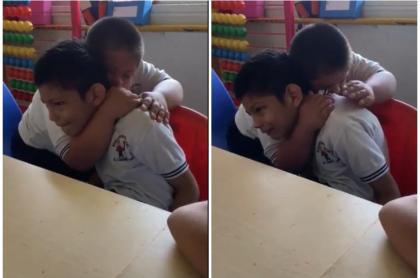 Niños con síndrome de Down y autismo.