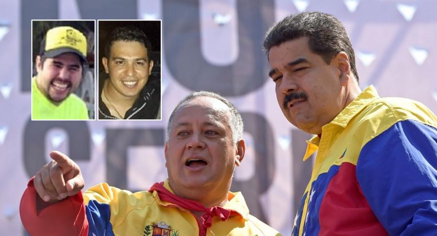 Efraín Campo Flores, Francisco Flores, Diosdado Cabello y Nicolás Maduro