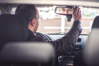 Retrovisor acoso en Uber