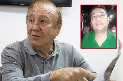 Rodolfo Hernández, exalcalde de Bucaramanga, e hijo.