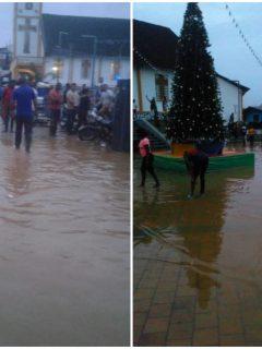 [Fotos] Municipio de Nariño, en alerta por el desbordamiento del río Telembí