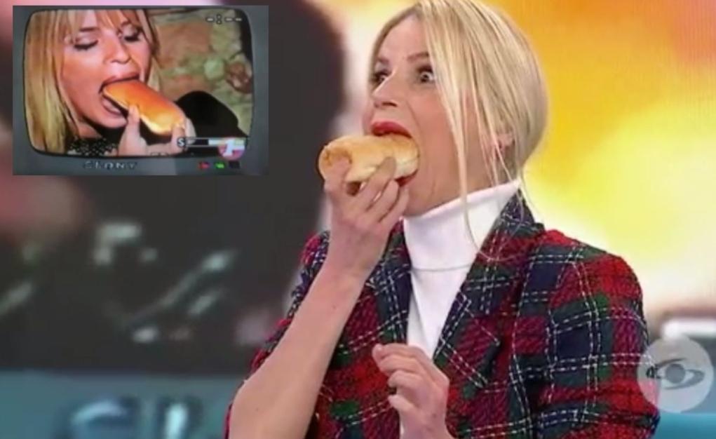 Mary Méndez come pan de perro.