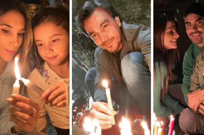 Daniela Ospina y su hiia Salomé / Luciano D'Alessandro / Carolina Cruz, Lincoln Palomeque y su hijo Matías