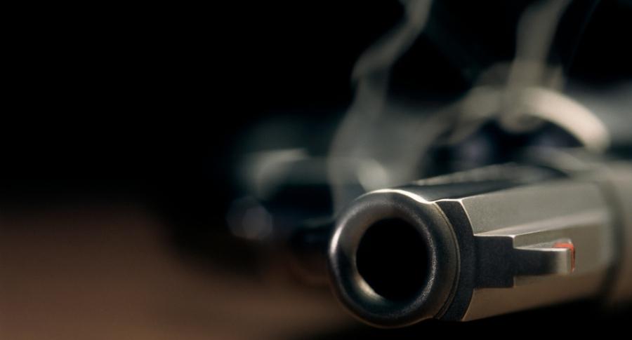 Revólver usado.