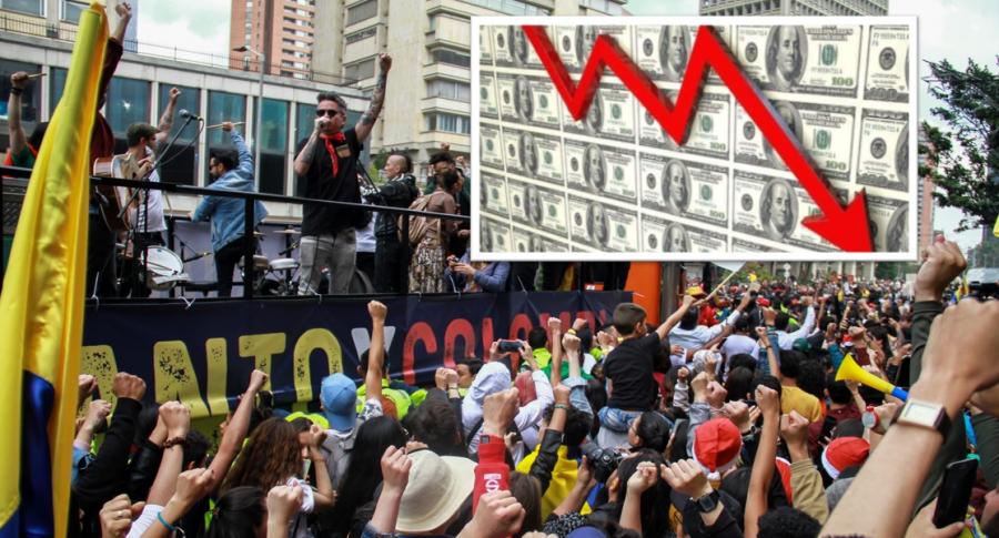 Marchas y dólar