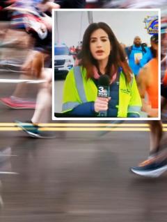 [Video] Abusivo maratonista le tocó la cola a una periodista durante un informe en vivo