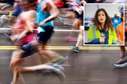 Periodista en una maratón.