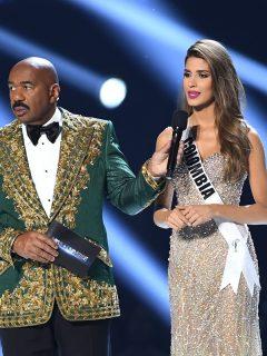 """""""No es gracioso"""": Miss Colombia reaccionó a comentario de mal gusto de Steve Harvey"""