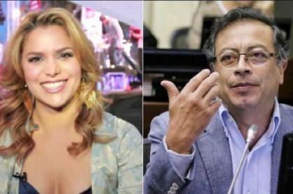 Adriana Lucía y Gustavo Petro