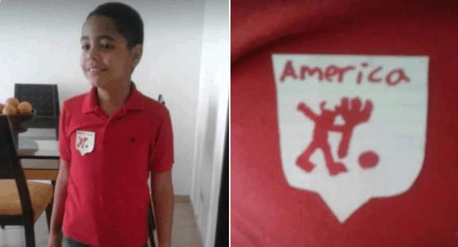 Niño hincha de América