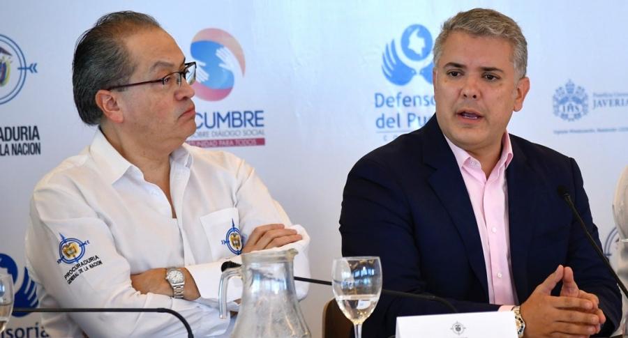 Fernando Carrillo e Iván Duque