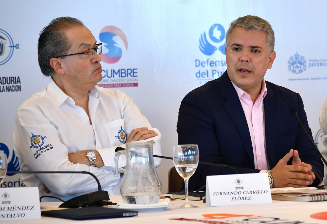 Fernando Carrillo e Iván Duque