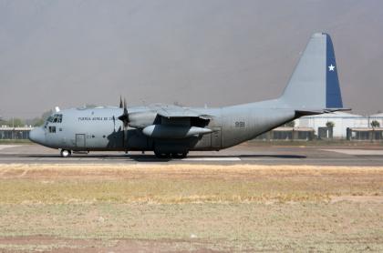 Avión Hércules de la Fuerza Aérea Chilena