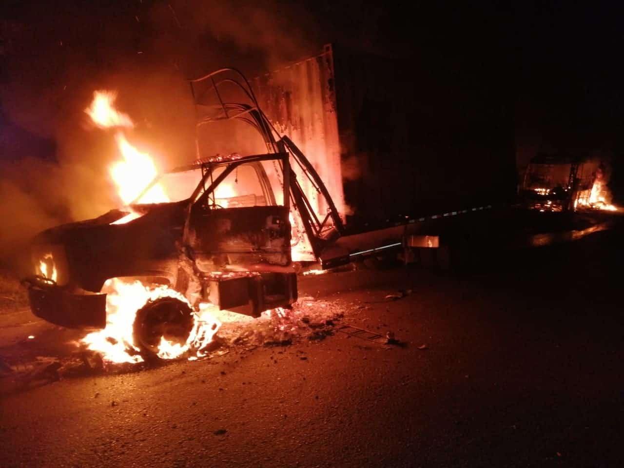 Camión incinerado por el ELN