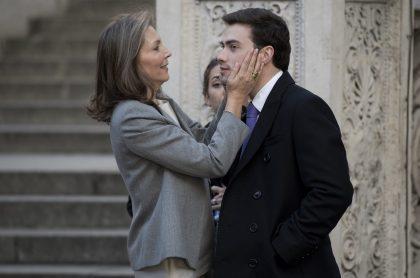 'Tutina' de Santos, exprimera dama de Colombia, y su hijo Esteban Santos.