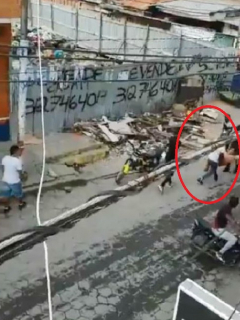 Graban escalofriante secuestro en la calle de un comerciante, a plena luz del día