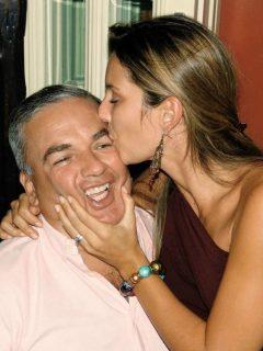 Mensaje que destacó Claudia Bahamón, de los muchos que recibe por muerte de su papá