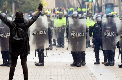 Policía en Bogotá